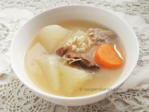 winter melon and barley soup