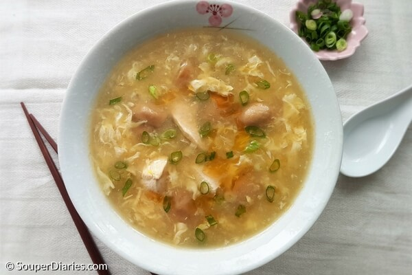 Chicken egg drop soup recipe