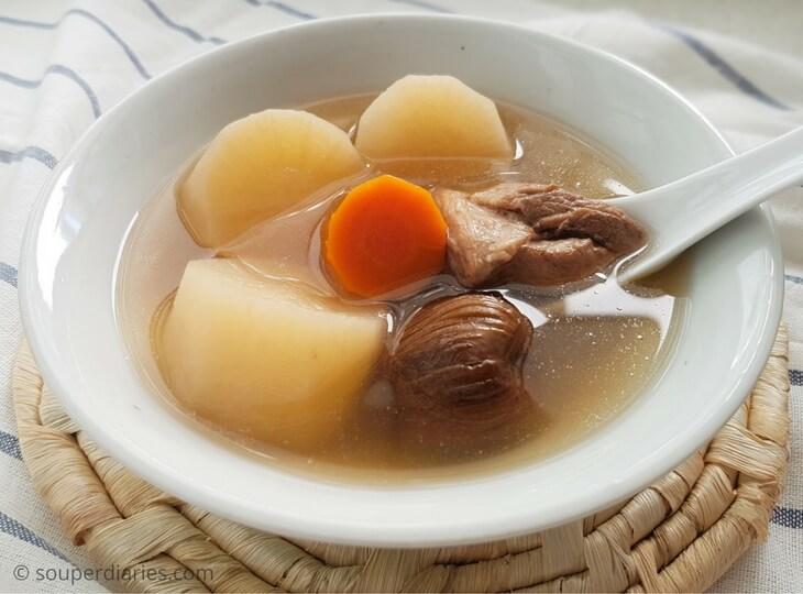 white radish soup