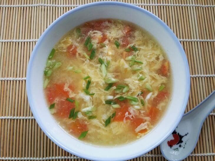 Tomato Egg Drop Soup Recipe