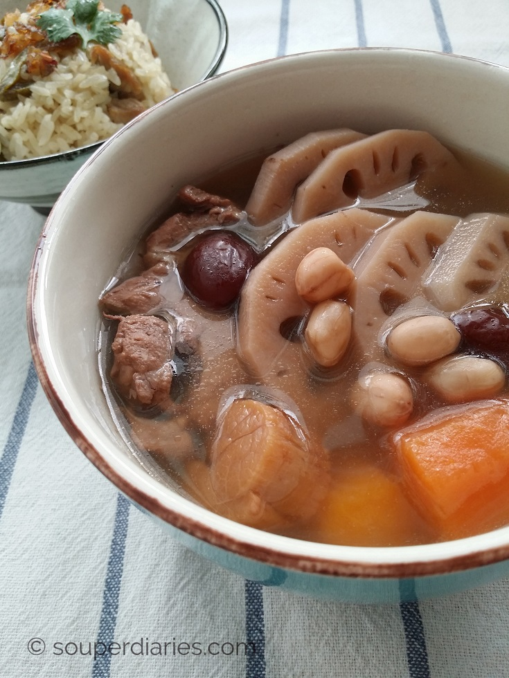 Lotus Root Soup Recipe 莲藕汤 - Souper Diaries