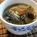 Ginseng with black chicken soup