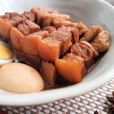 Tau Yew Bak – Braised Pork Belly in Soy Sauce