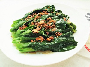 Chinese broccoli with oyster sauce