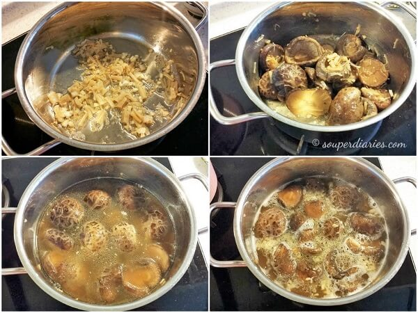 braised shiitake mushrooms
