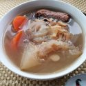 Shark fin melon soup
