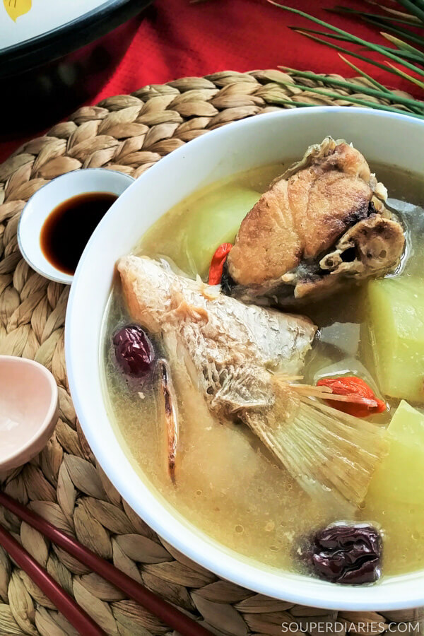 Green papaya fish soup to help boost lactation