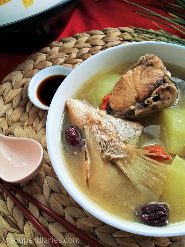 green papaya fish soup