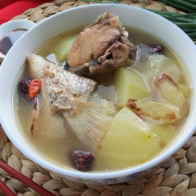 Green Papaya Fish Soup (青木瓜鱼汤)