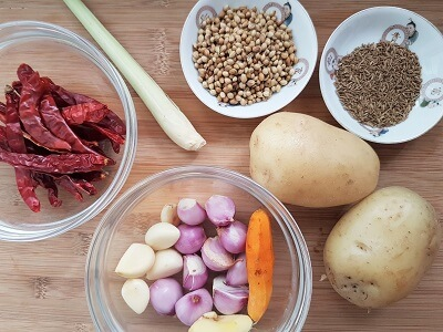 Basic curry ingredients
