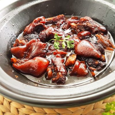 pig trotters with ginger and black vinegar
