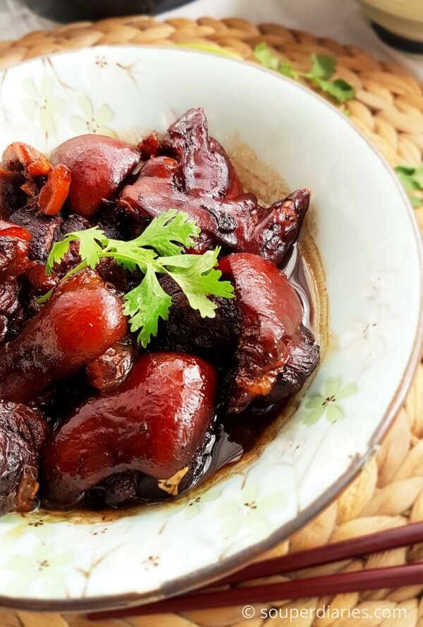 pig trotter in black vinegar