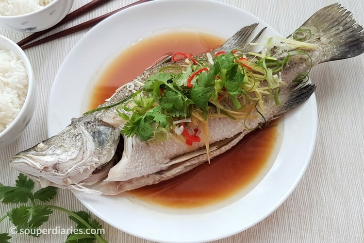 Cantonese style steamed fish recipe souper diaries for How to steam fish