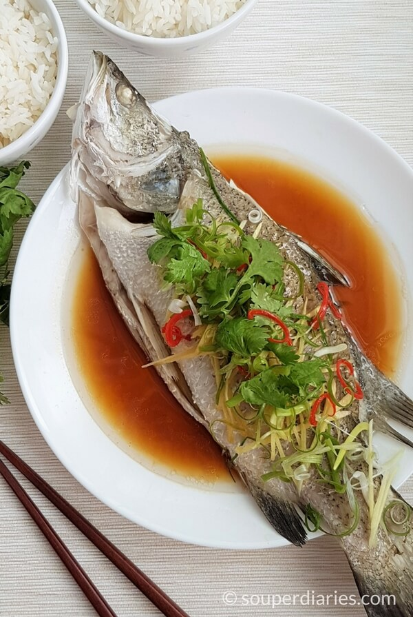 Chinese steamed fish recipe cantonese style souper diaries for How to steam fish