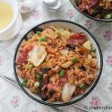 One-Pot Chinese Sausage with Cabbage Rice
