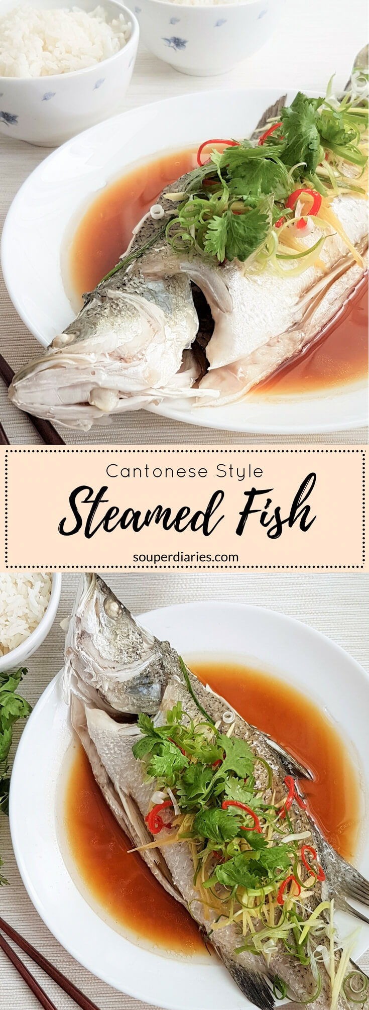Chinese steamed fish - healthy and delicious!