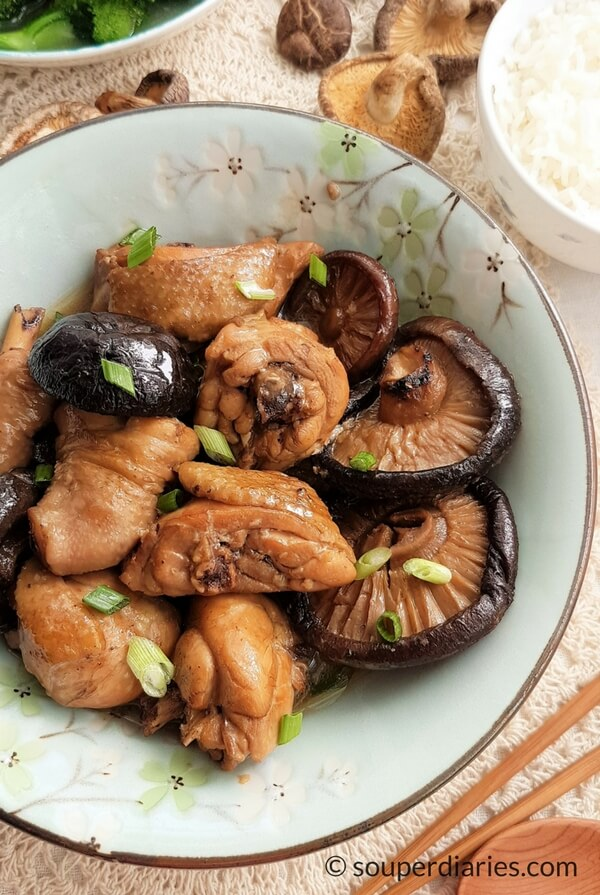 Chinese Braised Chicken With Mushrooms Souper Diaries
