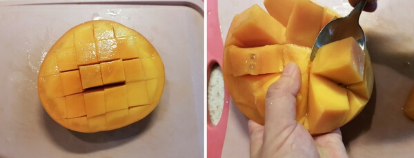 best way cut mango