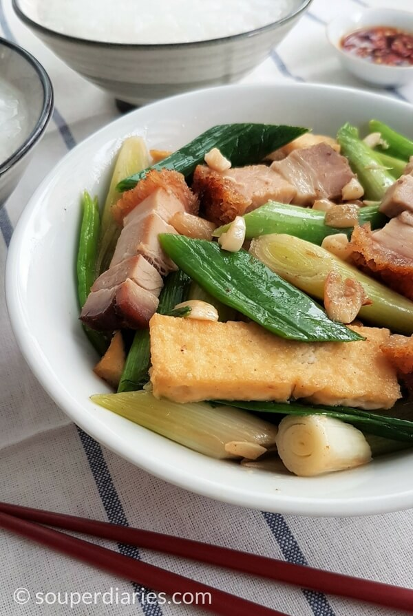 Stir fried leeks