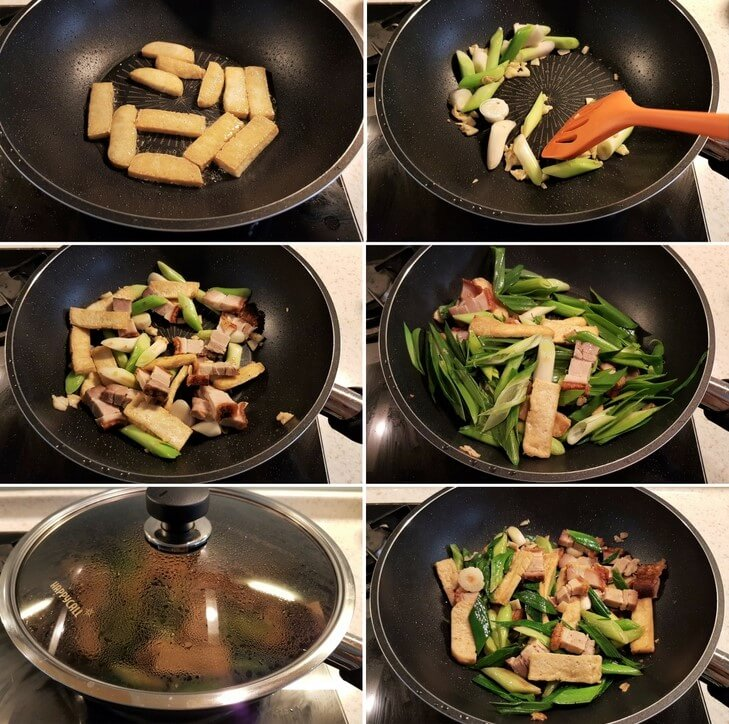 Stir fried leeks recipe