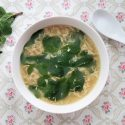 Mint egg drop soup