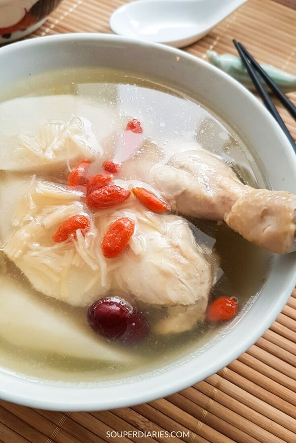 Chinese yam soup recipe