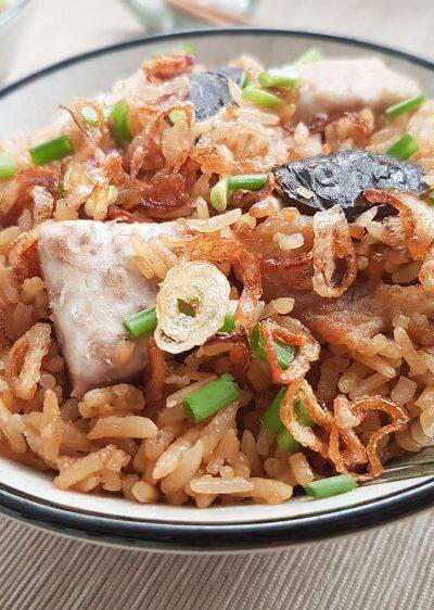 Yam Rice (Taro Rice 芋头饭)