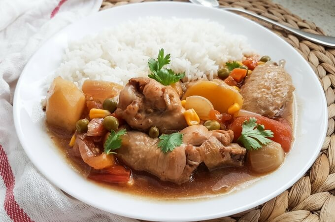 Chicken with potato stew