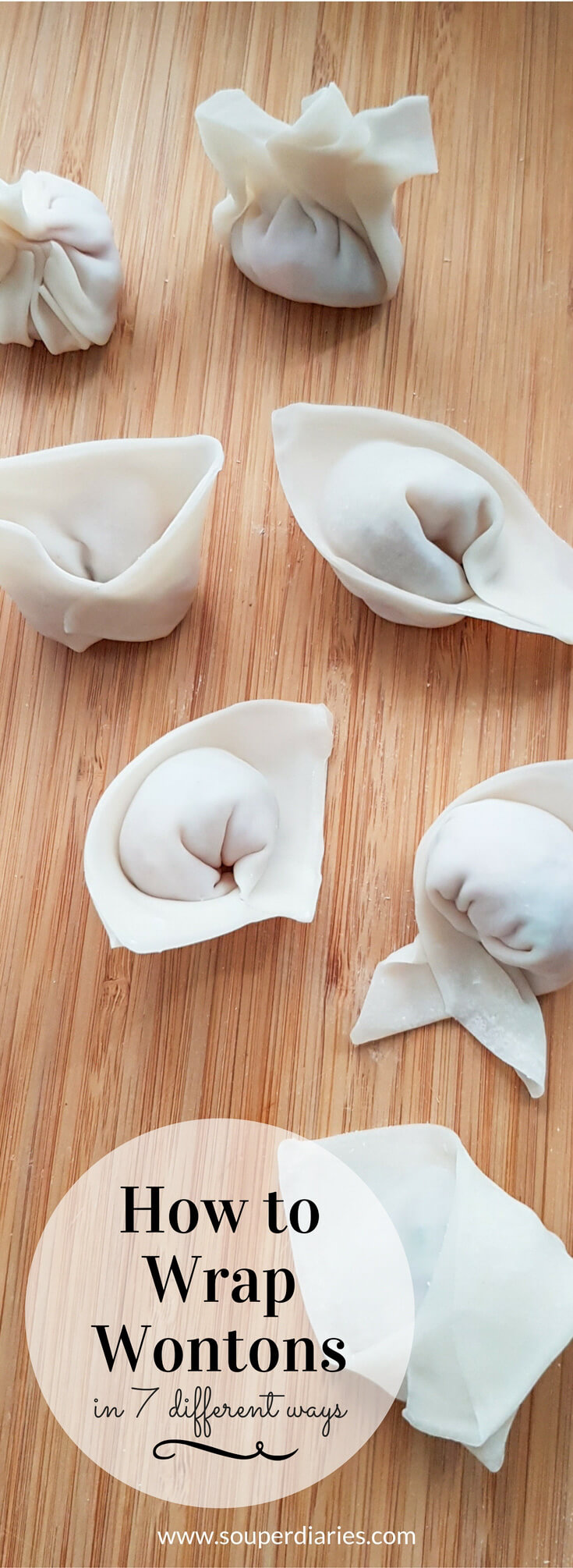 How to wrap wontons in 7 different ways