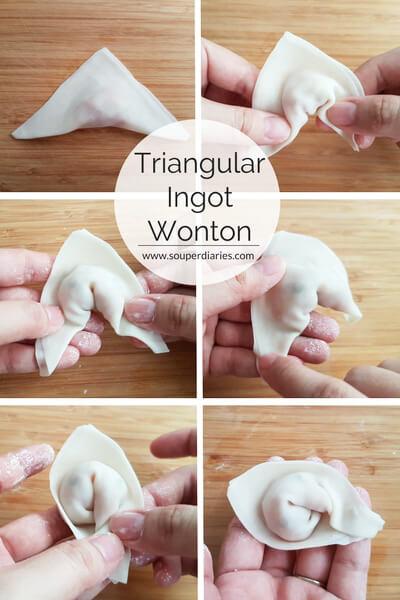 Triangular ingot wonton