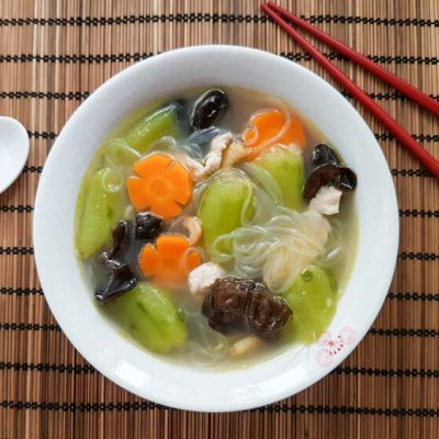 Luffa Soup with Black Fungus