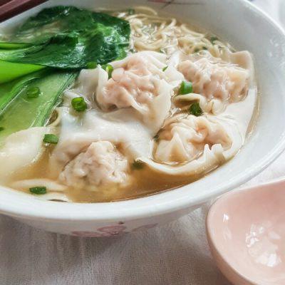 Cantonese Style Wonton Noodle Soup