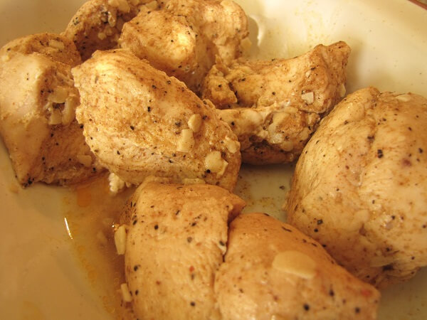 Baked chicken with a thermal cooker