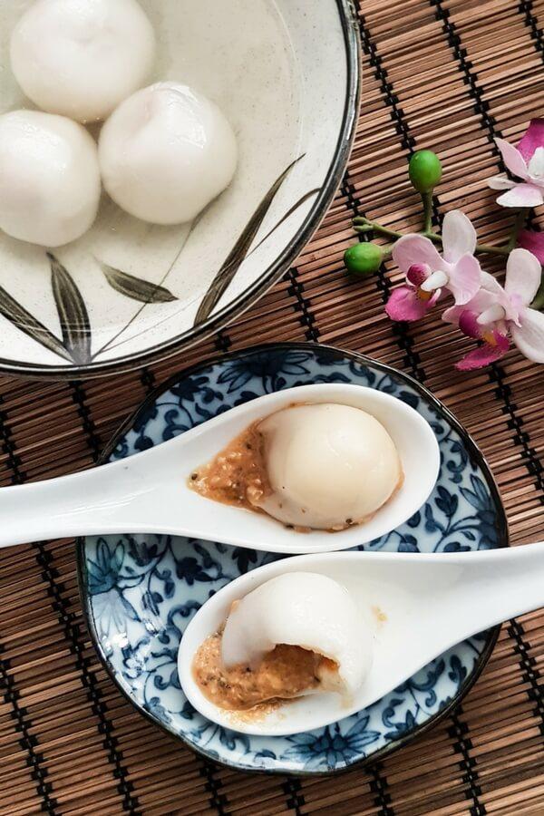 Peanut dumplings recipe (peanut tang yuan)