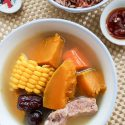 Pumpkin Pork Ribs Soup