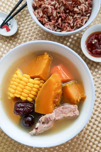 Pumpkin Pork Ribs Soup