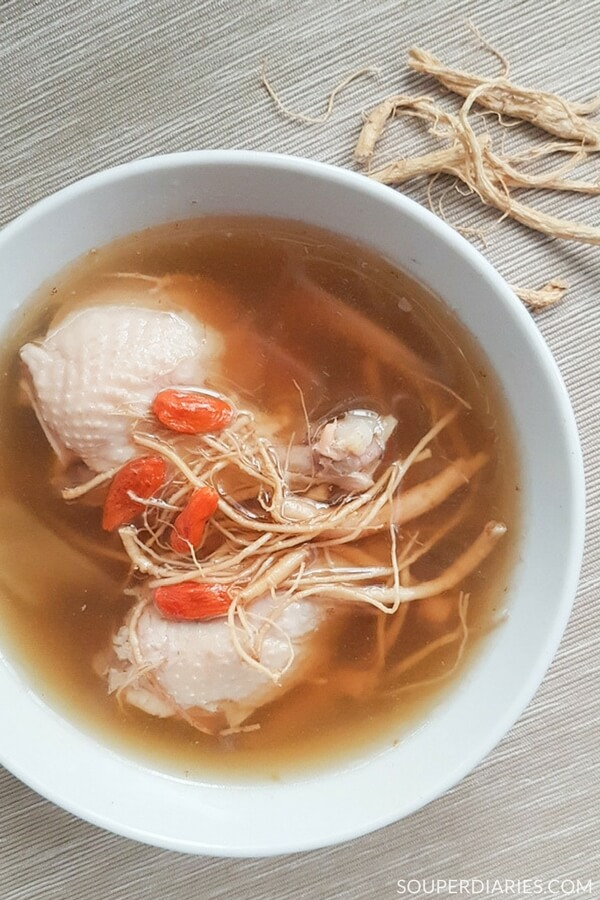 Ginseng beard chicken soup