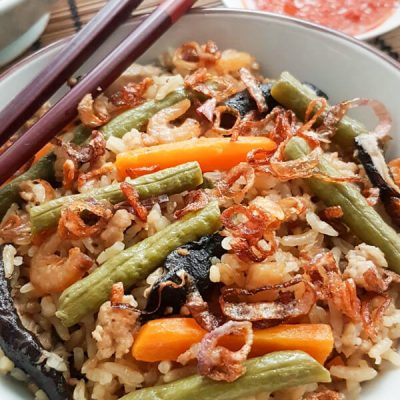 Rice Cooker Long Bean Rice (长豆饭)