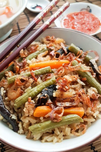 Rice Cooker Long Bean Rice (长豆饭)